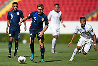 GUADALAJARA, MEXICO - MARCH 28: Djordje Mihailovic #8 of the United States dribbles with the ball during a game between Honduras and USMNT U-23 at Estadio Jalisco on March 28, 2021 in Guadalajara, Mexico.