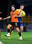 St Johnstone v Dundee United…10.11.20   McDiarmid Park      BetFred Cup<br />Marc McNulty and Liam Gordon<br />Picture by Graeme Hart.<br />Copyright Perthshire Picture Agency<br />Tel: 01738 623350  Mobile: 07990 594431