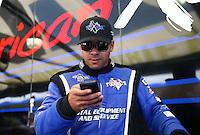 Sept. 22, 2013; Ennis, TX, USA: NHRA top fuel dragster driver J.R. Todd during the Fall Nationals at the Texas Motorplex. Mandatory Credit: Mark J. Rebilas-