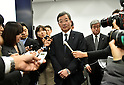 Kozo Takahashi, President of Sharp Corporation, Attends News Conference