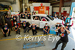 The staff of Kellihers Garage who took part in the Comfort for Chemo and Recovery Haven fundraiser on Friday at the garage.