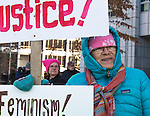 Susan Chandler during the Reno Women's March on Washington event on Virginia Street in downtown Reno on Saturday, Jan. 21, 2017.
