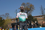 Peter Sagan (SVK) Bora-Hansgrohe at sign on before the start of the 112th edition of Milan-San Remo 2021, running 299km from Milan to San Remo, Italy. 20th March 2021. <br /> Photo: LaPresse/Gian Mattia D'Alberto   Cyclefile<br /> <br /> All photos usage must carry mandatory copyright credit (© Cyclefile   LaPresse/Gian Mattia D'Alberto)