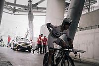 World TT champion Tony Martin (GER/Katusha-Alpecin) antering the Orange Vélodrome before his race against the clock<br /> <br /> 104th Tour de France 2017<br /> Stage 20 (ITT) - Marseille › Marseille (23km)