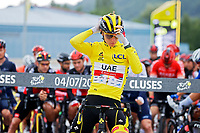 4th July 2021; Tignes, France;  POGACAR Tadej (SLO) of UAE TEAM EMIRATES during stage 9 of the 108th edition of the 2021 Tour de France cycling race, a stage of 144,9 kms between Cluses and Tignes on July 4