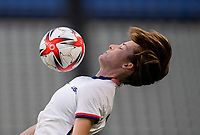 KASHIMA, JAPAN - AUGUST 2: Tierna Davidson #12 of the USWNT controls the ball during a game between Canada and USWNT at Kashima Soccer Stadium on August 2, 2021 in Kashima, Japan.