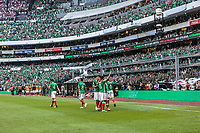 Mexico City, Mexico - Sunday June 11, 2017: Carlos Vela and EL TRI goal celebration during a 2018 FIFA World Cup Qualifying Final Round match with both men's national teams of the United States (USA) and Mexico (MEX) playing to a 1-1 draw at Azteca Stadium.
