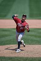 Altoona Curve pitcher Beau Sulser (27) during an Eastern League game against the Erie SeaWolves and on June 4, 2019 at UPMC Park in Erie, Pennsylvania.  Altoona defeated Erie 3-0.  (Mike Janes/Four Seam Images)