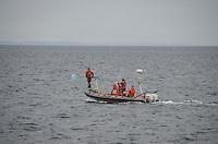 Orca Whale Researchers, Haro Strait, San Juan Islands, Washington, US