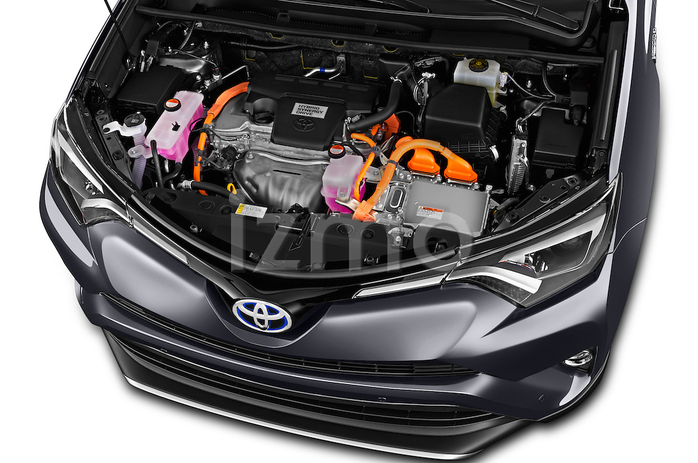 Car Stock 2016 Toyota RAV4 Business Edition Plus 5 Door Suv Engine  high angle detail view