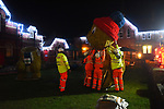 Pictured :  The team of workers assembling the xmas display of marmots at the top of Alton High Street.<br /> <br /> A council which infuriated residents of an affluent market town by replacing the traditional Christmas tree with a giant skiing marmot is set to provoke fury again - by installing TWO of them this year.<br /> <br /> The most controversial festive illumination of 2019 is poised to cause double trouble this time as the two 16 foot models are lit up by thousands of LEDs.<br /> <br /> Last December the installation of a single 'embarrassing' marmot in Alton, Hants sparked arguments, with many locals angry at the council's decision.  SEE OUR COPY FOR FULL DETAILS.<br /> <br /> © Roger Arbon/Solent News & Photo Agency<br /> UK +44 (0) 2380 458800