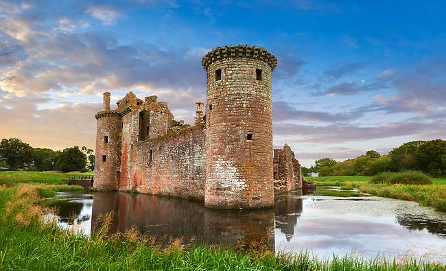 Exterior of Caerlaverock Castle, Dumfries Galloway, Scotland,