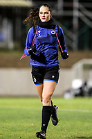 Saar Verdonck (6) of Club Brugge  pictured after the warm up before a female soccer game between FC Femina White Star Woluwe and Club Brugge YLA on the eleventh matchday of the 2020 - 2021 season of Belgian Scooore Womens Super League , Friday 22 January 2021  in Woluwe , Belgium . PHOTO SPORTPIX.BE   SPP   SEVIL OKTEM