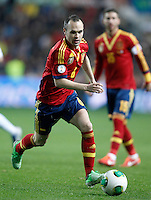 Spain's Andres Iniesta during international match of the qualifiers for the FIFA World Cup Brazil 2014.March 22,2013.(ALTERPHOTOS/Acero)