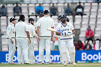 New Zealand celebrate whilst Rohit Sharma decides whether to review during India vs New Zealand, ICC World Test Championship Final Cricket at The Hampshire Bowl on 22nd June 2021