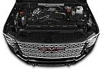 Car Stock 2020 GMC Sierra Denali 4 Door Pick-up Engine  high angle detail view