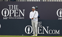 14th July 2021; The Royal St. George's Golf Club, Sandwich, Kent, England; The 149th Open Golf Championship, practice day; Sergio Garcia (ESP) prepares to his his tee shot on the opening hole