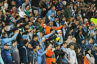 HARRISON, NJ - MARCH 11: NYCFC fans during a game between Tigres UANL and NYCFC at Red Bull Arena on March 11, 2020 in Harrison, New Jersey.