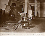 Southern School of Photography in McMinnville, TN.  1904-1928.  Large studio / operating room.