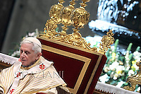 Pope Benedict XVI New elevated bishops's, personal secretary Georg Gaenswein during the Epiphany mass in St. Peter's Basilica on January 6, 2013.