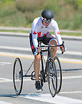 MILTON, ON, AUGUST 13, 2015. Cycling time trials, including Canadian Louis-Albert Corriveau Jolin