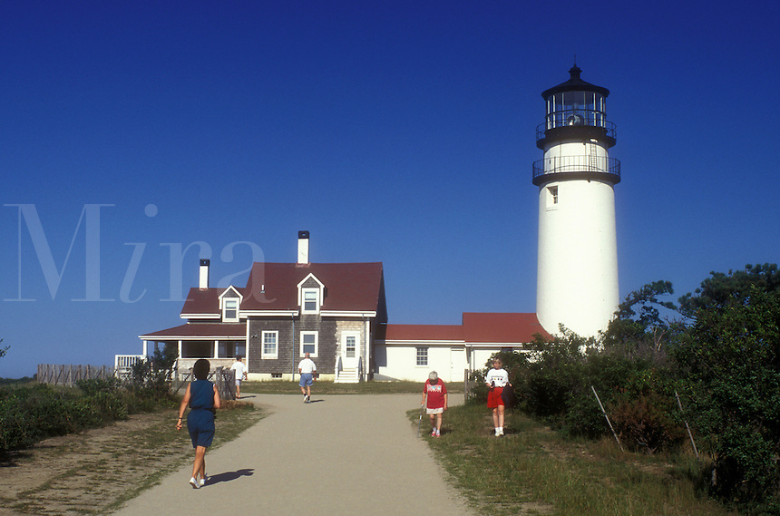 AJ1491, lighthouse, Cape Cod, Cape Cod National Seashore, Massachusetts, Highland Light (Cape Cod Light) in Truro, Massachusetts. Lighthouse built in 1795.