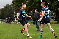 Cooperians score their first try during Campion RFC vs Old Cooperians RFC, London 3 Essex Division Rugby Union at Cottons Park on 16th October 2021