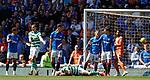 12.05.2019 Rangers v Celtic: Scott Brown down holding his face