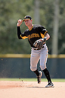 Pittsburgh Pirates second baseman Jacoby Jones (54) during an Instructional League game against the New York Yankees on September 18, 2014 at the Pirate City in Bradenton, Florida.  (Mike Janes/Four Seam Images)