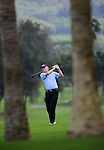 TAIPEI, TAIWAN - NOVEMBER 20:  Roger Chapman of England plays his second shot on the 1st green during day three of the Fubon Senior Open at Miramar Golf & Country Club on November 20, 2011 in Taipei, Taiwan.  Photo by Victor Fraile / The Power of Sport Images