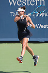 August  18, 2017:  Garbine Muguruza (ESP) battles against Svetlana Kuznetsova (RUS),  at the Western & Southern Open being played at Lindner Family Tennis Center in Mason, Ohio.  ©Leslie Billman/Tennisclix/CSM