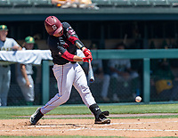 STANFORD, CA - JUNE 4: Kody Huff during a game between North Dakota State and Stanford Baseball at Sunken Diamond on June 4, 2021 in Stanford, California.