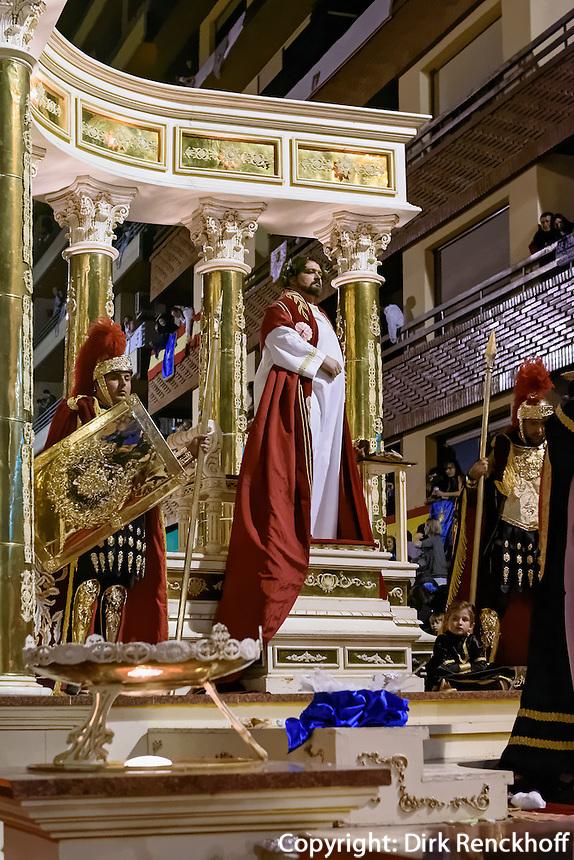 Wagen des Nero bei  der Karfreitagsprozession der Semana Santa (Karwoche) in Lorca,  Provinz Murcia, Spanien, Europa