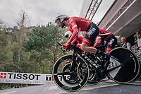 Julien Bernard (FRA/Trek-Segafredo) rolling off the start ramp<br /> <br /> UCI MEN'S TEAM TIME TRIAL<br /> Ötztal to Innsbruck: 62.8 km<br /> <br /> UCI 2018 Road World Championships<br /> Innsbruck - Tirol / Austria