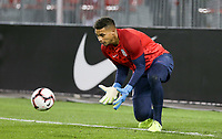 TORONTO, ON - OCTOBER 15: Zack Steffen #1 of the United States warms up prior the game during a game between Canada and USMNT at BMO Field on October 15, 2019 in Toronto, Canada.