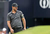 15th July 2021; Royal St Georges Golf Club, Sandwich, Kent, England; The Open Championship, PGA Tour, European Tour Golf , First Round ; Brooks Koepka (USA) reacts to his birdie putt on the 18th green