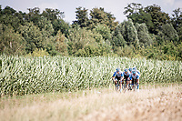 at Carrefour de l'arbre<br /> <br /> reconnaissance of the (delayed, due to the Covid19 pandemic) Paris-Roubaix course by Team Israel - StartUp Nation <br /> <br /> Nord-Pas de Calais region (FRA), 17 july 2020<br /> ©kramon
