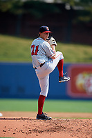 Portland Sea Dogs starting pitcher Matthew Kent (21) delivers a pitch during the first game of a doubleheader against the Reading Fightin Phils on May 15, 2018 at FirstEnergy Stadium in Reading, Pennsylvania.  Portland defeated Reading 8-4.  (Mike Janes/Four Seam Images)