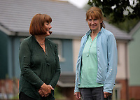 Pictured L-R: Jill Simpson and Christine Hughes. Tuesday 11 July 2017<br /> Re: A family of Syrian refugees will be given accommodation in Narberth, Pembrokeshire, Wales, UK.