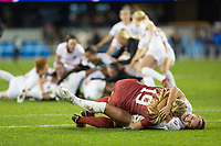 Stanford, CA - December 8, 2019: Katie Meyer, Sophia Smith at Avaya Stadium. The Stanford Cardinal won their 3rd National Championship, defeating the UNC Tar Heels 5-4 in PKs after the teams drew at 0-0.