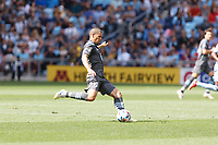 ST. PAUL, MN - AUGUST 21: Osvaldo Alonso #6 of Minnesota United FC kicks the ball during a game between Sporting Kansas City and Minnesota United FC at Allianz Field on August 21, 2021 in St. Paul, Minnesota.