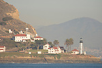 Point Loma, San Diego, California; Point Loma light house, viewed from the Pacific Ocean, at the entrance to San Diego Bay