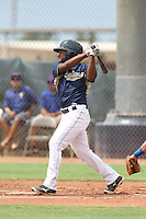 Josh Magee (7) of the AZL Padres bats during a game against the AZL Rangers at the San Diego Padres Spring Training Complex on July 5, 2015 in Peoria, Arizona. Padres defeated Rangers, 9-2. (Larry Goren/Four Seam Images)
