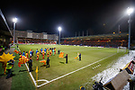 Rangers and Partick Thistle emerge at a frosty Firhill Stadium