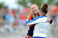 Boyds, MD - Saturday August 12, 2017: Tori Huster, Angela Salemn during a regular season National Women's Soccer League (NWSL) match between the Washington Spirit and The Boston Breakers at Maureen Hendricks Field, Maryland SoccerPlex.