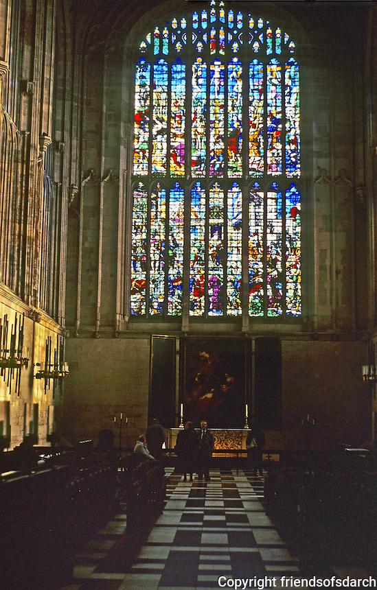 Cambridge: King's Chapel--Altar.