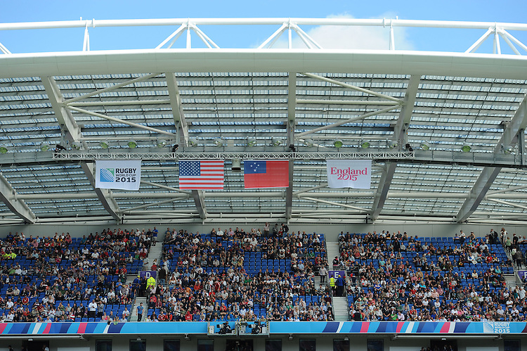 General view of the stadium during Match 6 of the Rugby World Cup 2015 between Samoa and USA - 20/09/2015 - Brighton Community Stadium, Brighton <br /> Mandatory Credit: Rob Munro/Stewart Communications
