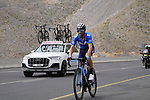 Alejandro Valverde (ESP) Movistar climbs the final 4km of Jais Mountain during Stage 5 of the 2021 UAE Tour running 170km from Fujairah to Jebel Jais, Ras Al Khaimah, UAE. 25th February 2021.  <br /> Picture: Eoin Clarke   Cyclefile<br /> <br /> All photos usage must carry mandatory copyright credit (© Cyclefile   Eoin Clarke)
