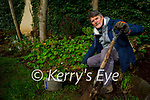 Paul Hanrahan planting and weeding the Serenity Garden in Pearse Park on Friday