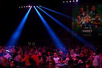 26th May 2021; Marshall Arena, Milton Keynes, Buckinghamshire, England; Professional Darts Corporation, Unibet Premier League Night 15 Milton Keynes; Fans fill the Marshall Arena